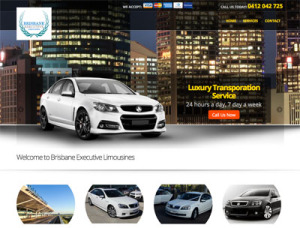 the Brisbane Executive Limos website