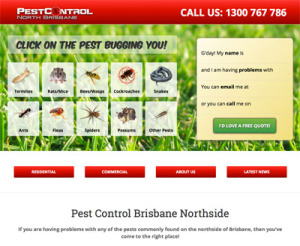 The Pest Control North Brisbane website