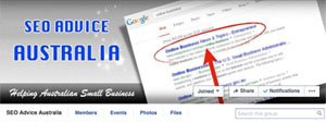 SEO Advice Australia Facebook group